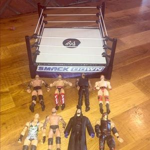 Other - WWE Smackdown Wreatling Ring 8 Wrestlers